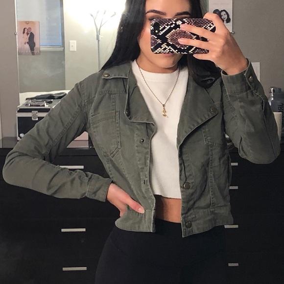 Sound & Matter Jackets & Blazers - PacSun Army Green Jacket